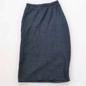 Black Mesh Pencil Skirt (small)